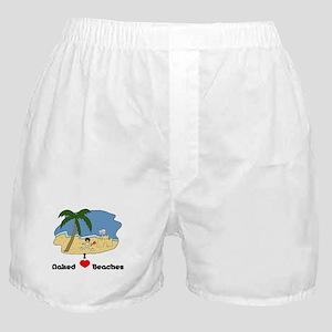 I Love Naked Beaches Boxer Shorts