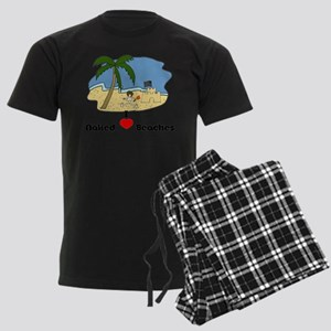 I Love Naked Beaches Men's Dark Pajamas