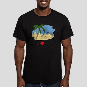 I Love Naked Beaches Men's Fitted T-Shirt (dark)