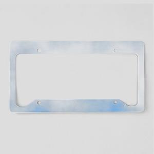 Cloudy Beach License Plate Holder