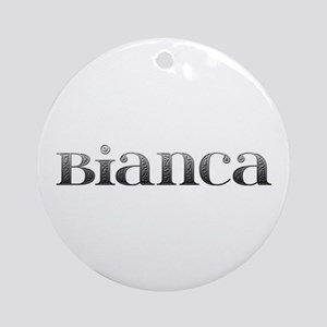 Bianca Carved Metal Round Ornament