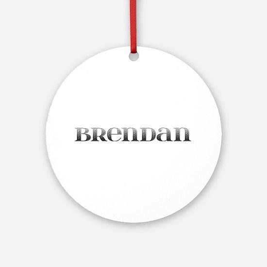 Brendan Carved Metal Round Ornament