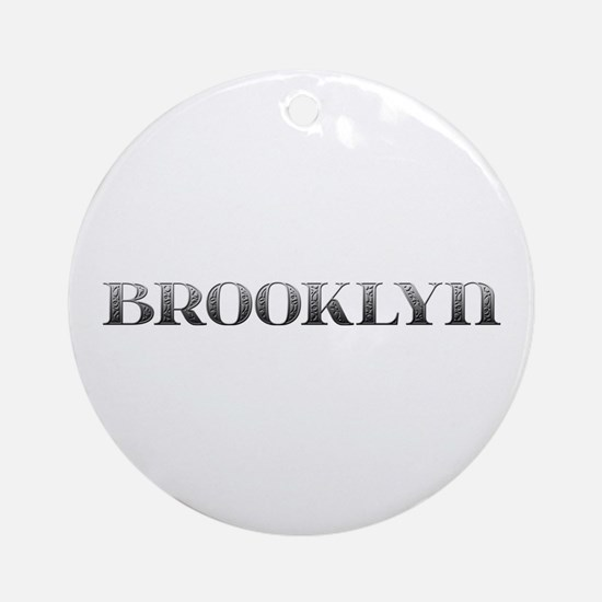 Brooklyn Carved Metal Round Ornament