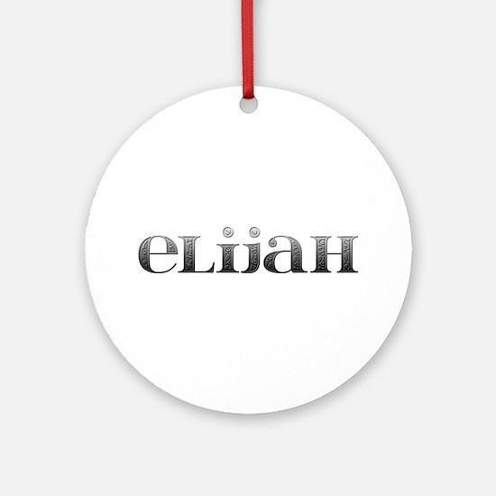 Elijah Carved Metal Round Ornament