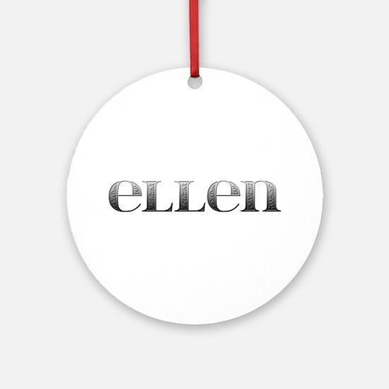 Ellen Carved Metal Round Ornament