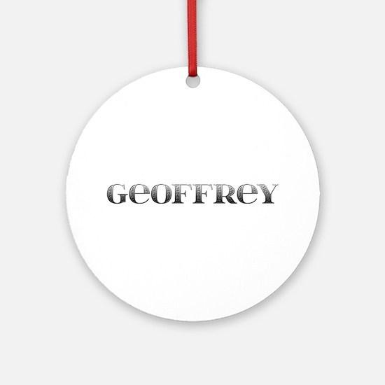 Geoffrey Carved Metal Round Ornament