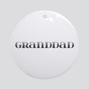 Granddad Carved Metal Round Ornament