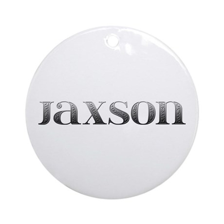 Jaxson Carved Metal Round Ornament