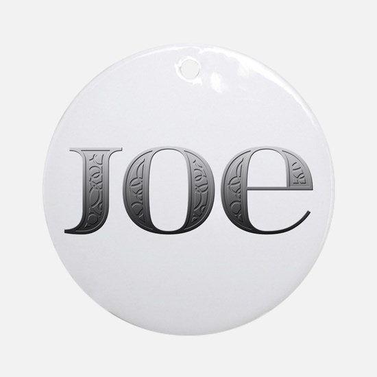 Joe Carved Metal Round Ornament