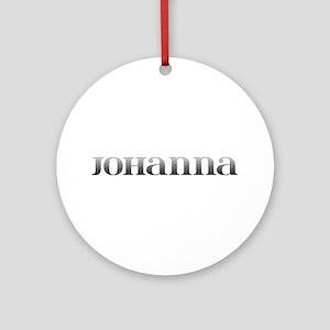 Johanna Carved Metal Round Ornament