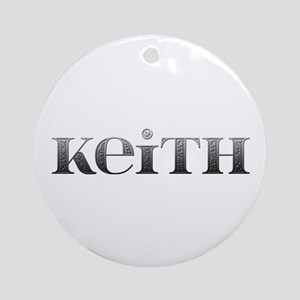 Keith Carved Metal Round Ornament