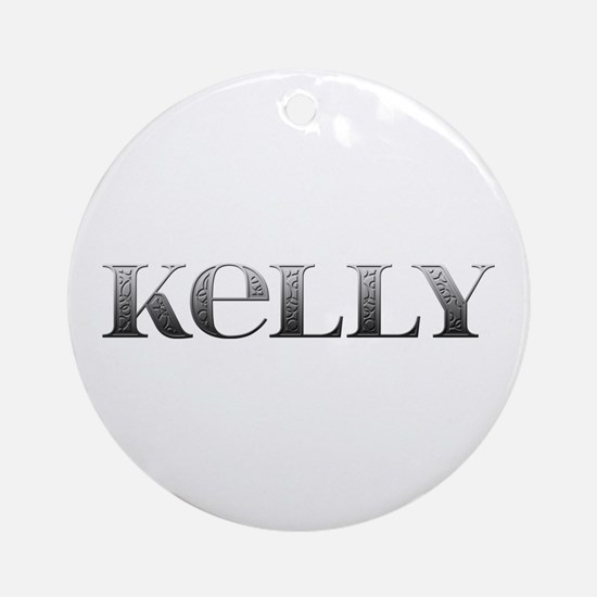 Kelly Carved Metal Round Ornament