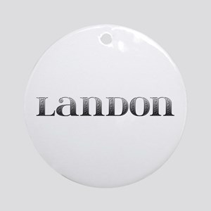 Landon Carved Metal Round Ornament