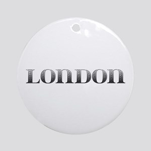 London Carved Metal Round Ornament