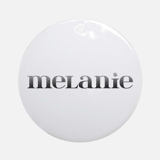 Melanie Carved Metal Round Ornament