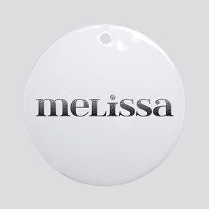 Melissa Carved Metal Round Ornament