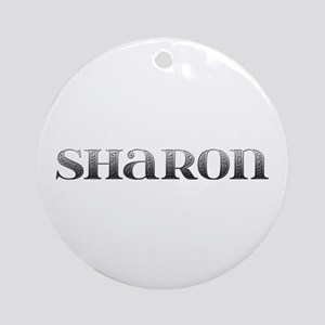 Sharon Carved Metal Round Ornament