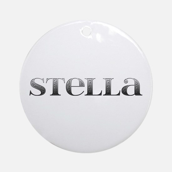 Stella Carved Metal Round Ornament