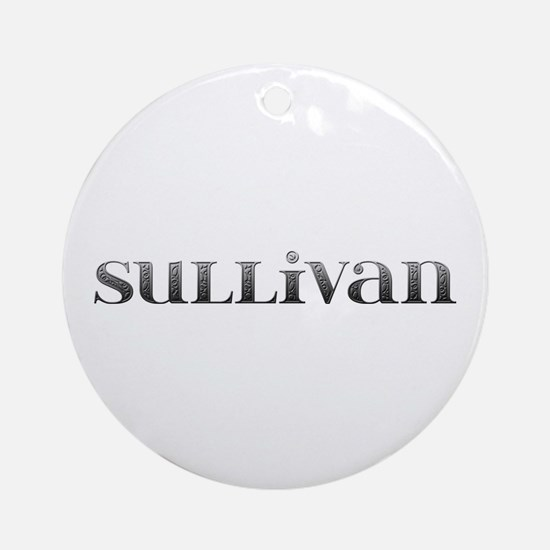 Sullivan Carved Metal Round Ornament