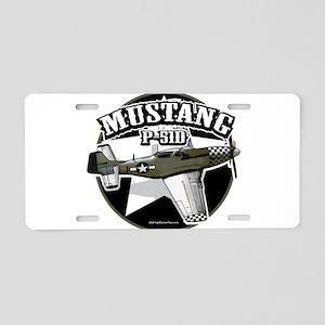 Mustang P51-D Aluminum License Plate