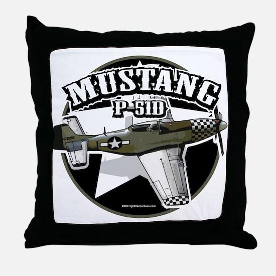 Mustang P51-D Throw Pillow