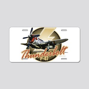 Thunderbolt P-47 Aluminum License Plate