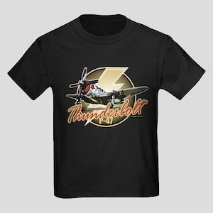 Thunderbolt P-47 Kids Dark T-Shirt
