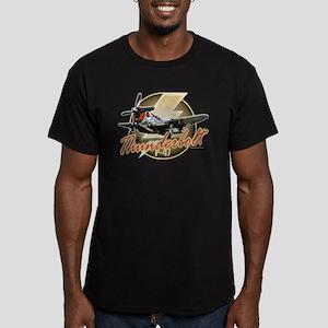 Thunderbolt P-47 Men's Fitted T-Shirt (dark)