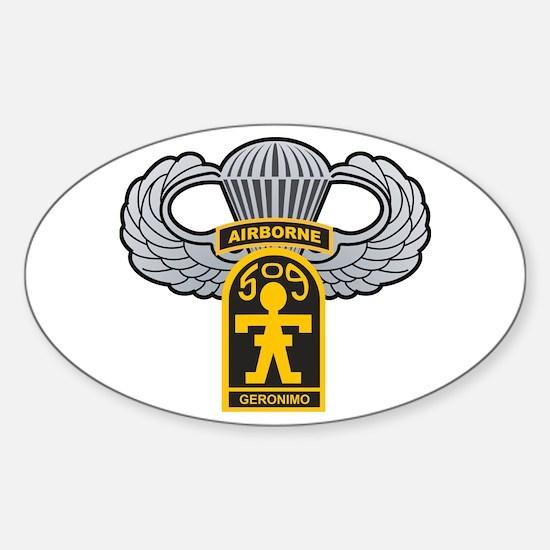 Cute Airborne Sticker (Oval)