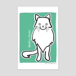 Maine Coon Cat Mini Poster Print