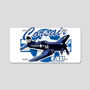 Corsair F4U Aluminum License Plate