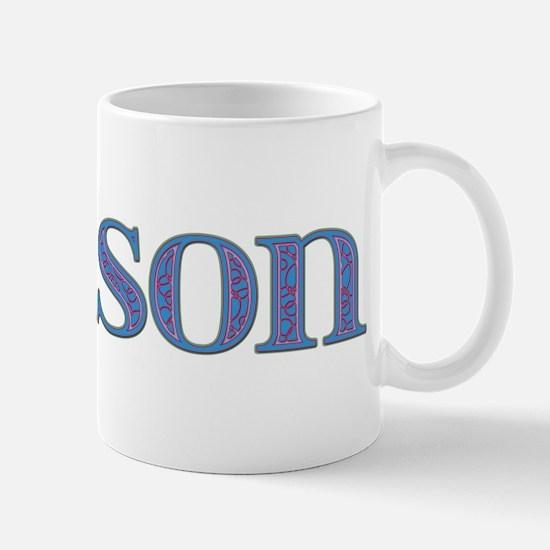 Carson Blue Glass Mug