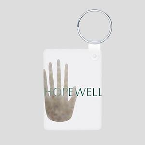 Hopewell Mound Mica Hand Aluminum Photo Keychain