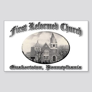 First Reformed Church Sticker (Rectangle)