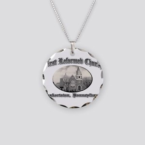 First Reformed Church Necklace Circle Charm