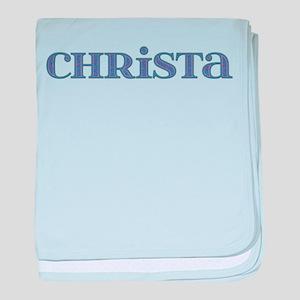Christa Blue Glass baby blanket