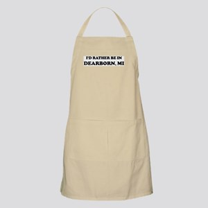 Rather be in Dearborn BBQ Apron