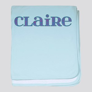 Claire Blue Glass baby blanket