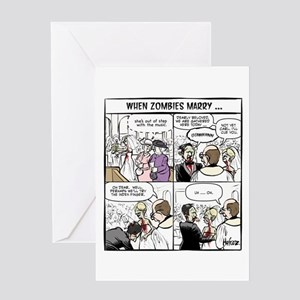Zombie greeting cards cafepress zombie wedding greeting card m4hsunfo