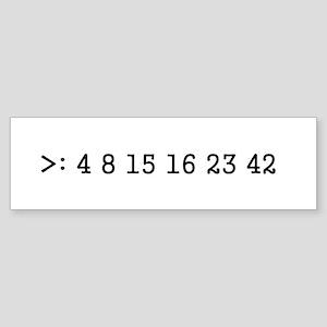 LOST numbers Bumper Sticker