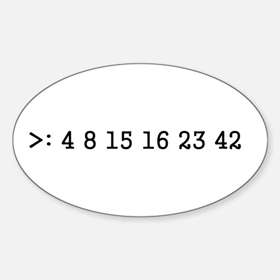 LOST numbers Oval Decal