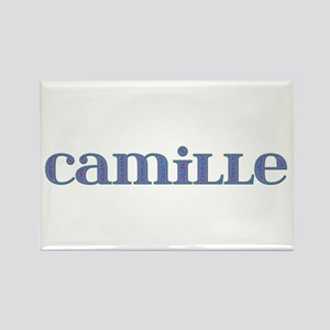 Camille Blue Glass Rectangle Magnet