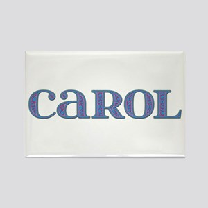 Carol Blue Glass Rectangle Magnet