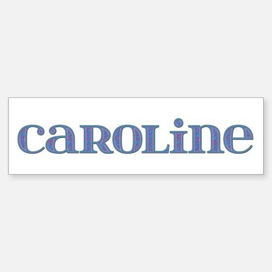 Caroline Blue Glass Bumper Car Car Sticker