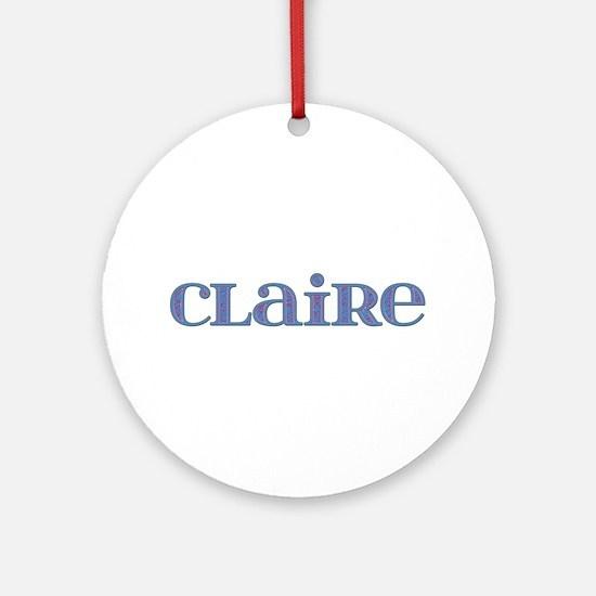 Claire Blue Glass Round Ornament