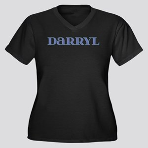 Darryl Blue Glass Women's Plus Size V-Neck Dark T-