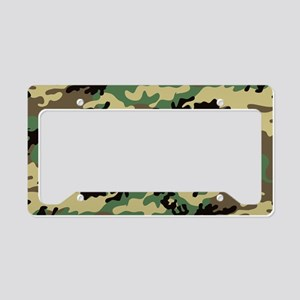 Woodland Camo License Plate Holder