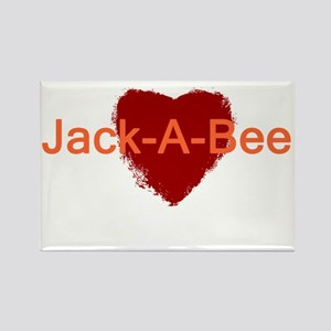 Heart Jack-A-Bee Rectangle Magnet