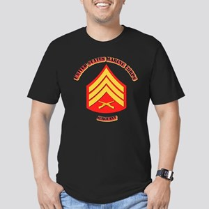 USMC - Sergeant with text Men's Fitted T-Shirt (da