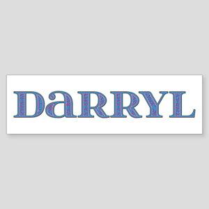 Darryl Blue Glass Bumper Sticker